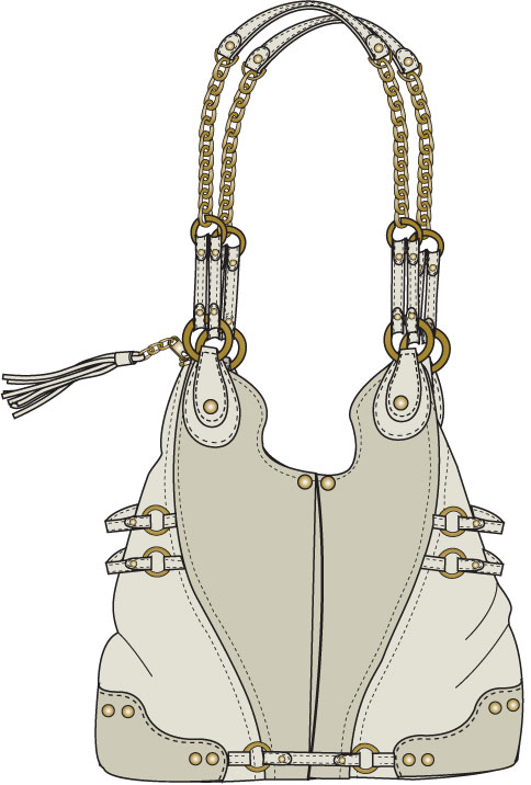 Fashion sketches bags